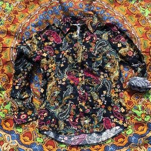 Psychedelic Paisley Button-down